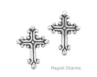 Christian CROSS Earrings .925 Sterling Silver Post Stud - se2374