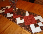 """Fall or """"Any Time"""" Table Runner in Fabrics by Sandy Gervais"""