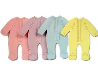 15 pastel Baby grow Outfit Die cuts for cards/toppers cardmaking scrapbooking baby showers nappy cakes