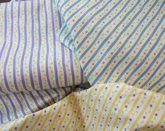 Quilting Cotton, Heart and Soul Fabric by Sandy Gervais, Purple Yellow and Blue Striped Fabrics, Quilt Fabric,