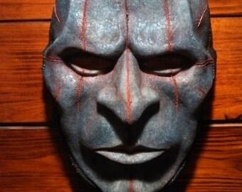 Mens Sliced Burlap Mask