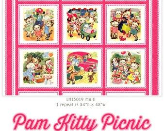 Pam Kitty Picnic Panel by Lakehouse