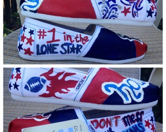 Houston Texans Custom TOMS || Custom Shoes || Custom Toms || Painted Shoes || Painted TOMS || Texans || NFL || Womens Shoes || Womens Custom