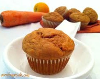 JUMBO Carrot Muffins /Homemade/ 12 ct. / Gluten Free /Sugar Free /Vegan Options/Edible Gifts/Muffin Gifts/Food Gifts/Muffin Basket