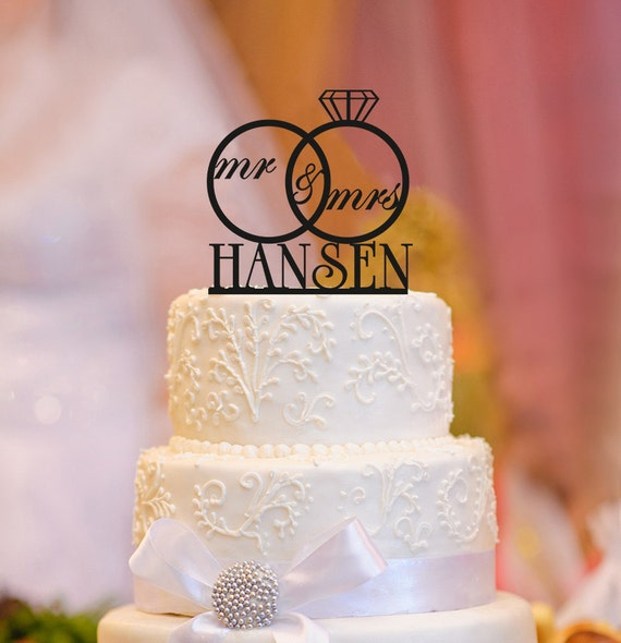 Wedding Cake Toppers And More MrampMrs Name By CAKETOPPER07 On Etsy