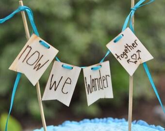 Travel wedding cake topper custom cake topper travel cake topper country wedding wood cake topper wedding topper bride and groom wood topper