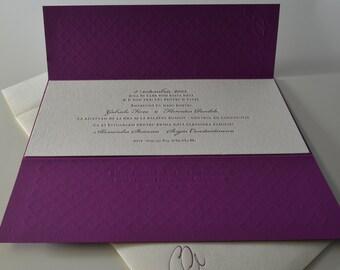 Wedding Invitation - Letterpress printed