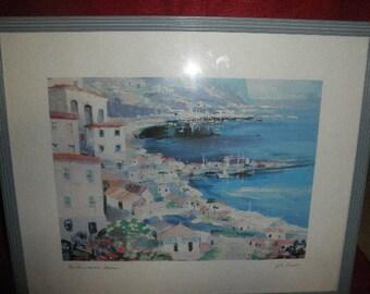 Mediterranean Harbor Print by Eugene La Foret