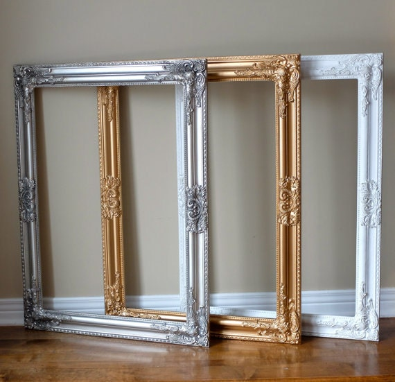 how to make a white frame look antique gold