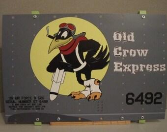 Aircraft Nose Art panel B-52 bomber Old Crow Express