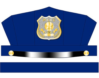 DIGITAL DOWNLOAD Blue Police Hat Printable