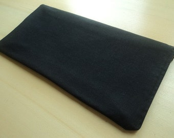 Apple Wireless Keyboard Case Bag Sleeve  - Padded & Zipper Closure - Solid Black
