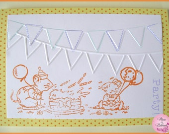 "Birthday card for child ""Party!"""