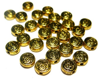 20pcs Antique Gold Spacer Beads 7x3mm Jewelry Supplies