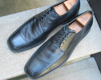 Vintage Calvin Klein Mens Black Oxfords Mens Used Shoes 13 M