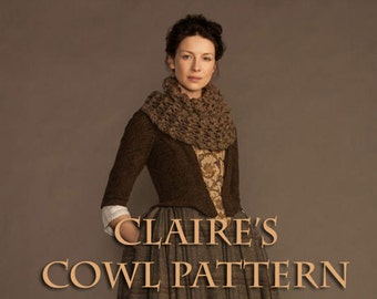 Claire's Chunky Highland Cowl Pattern Inspired by Outlander