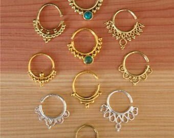 Septum Ring - Assorted Septum Rings Package - Septum Jewelry - Septum Piercing - Indian Nose Ring - Infian Septum Ring - Tribal Septum Ring