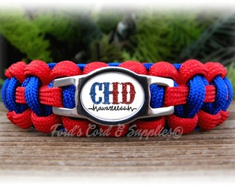 CHD, Congenital Heart Defect Awareness Bracelet, Paracord Bracelet, Unisex Adult Bracelet, Childs Bracelet, Support Bracelet, Gift
