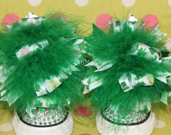 St. Patrick's Day Shoe Bows or Pigtail bows