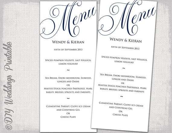 Free Menu Template Printable  Free Menu Templates Printable
