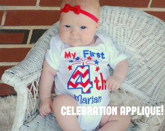My First Fourth of July Shirt, First Fourth of July, Baby Shower Gift, Fireworks Shirt