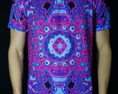 EUPHORIA (Pink) by John Speaker / All Over Print Rave Shirt / Festival Clothing / Rave Clothing / Festival Shirt / Festival Outfit