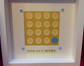 Items Similar To Personalised Framed Bunting Paper Art