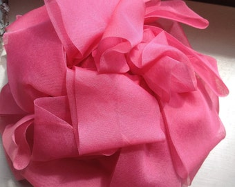 Women's 40's-50's pink bow style hat