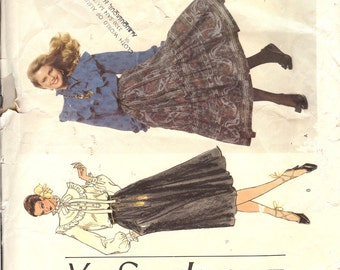 Vogue 1762  Paris Original Misses' Blouse and Skirt   ID251