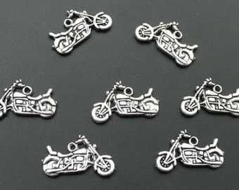 Motorcycle Charm Bead Antique Silver Charm Pendant Motorcycle Charm Motor Bike Charm