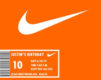 Jordan Shoe Box Invitation