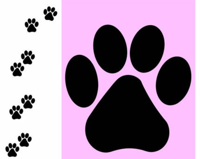 Vinyl Decals Cat / kitty paws (100)  footprints prints kitty walking paws track sticker car window / bumber funny graphics bowl accessories