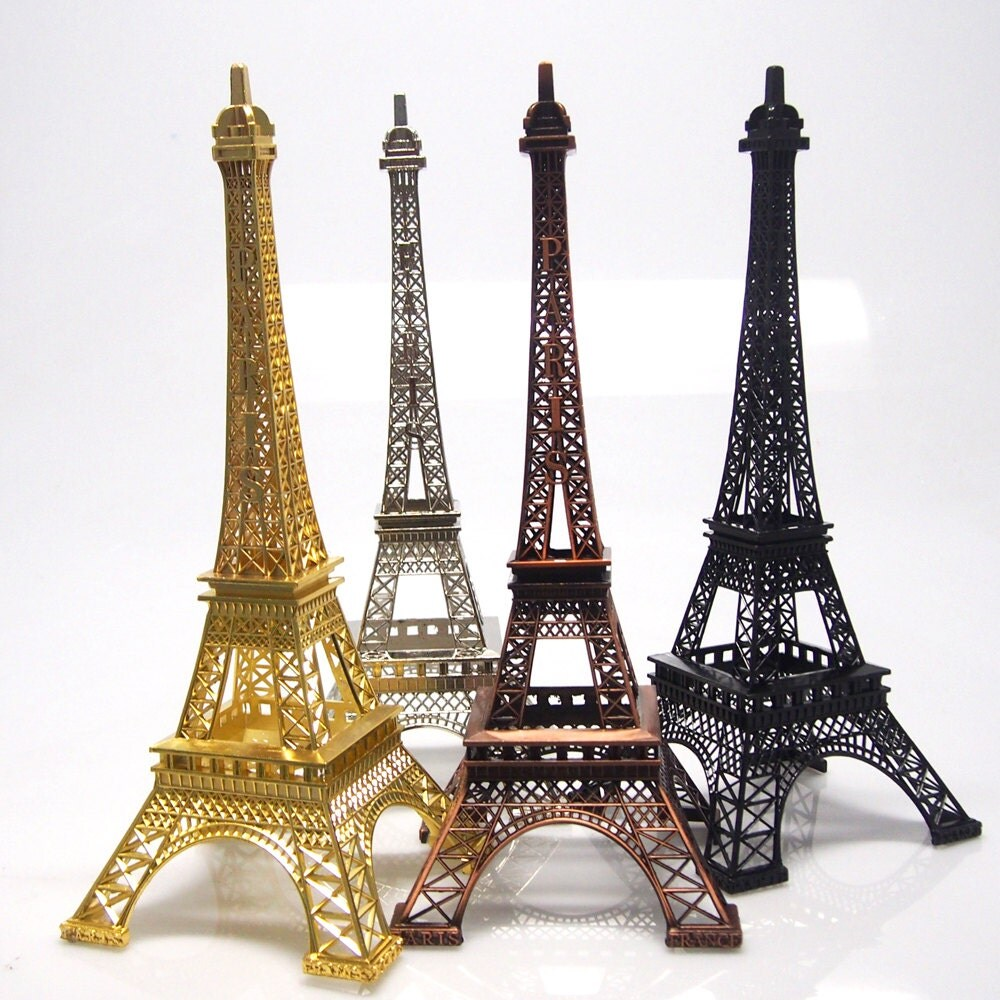 Metal eiffel tower paris france decor centerpiece by partyspin for Art decoration france