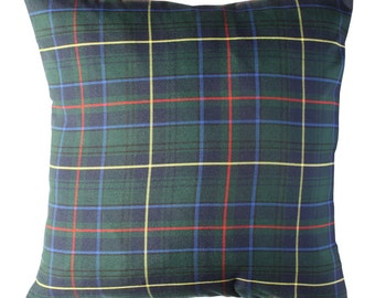 Scottish Pillow cover in GREEN.