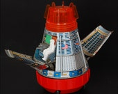 1960's Original Horikawa Tin Plate Space Capsule
