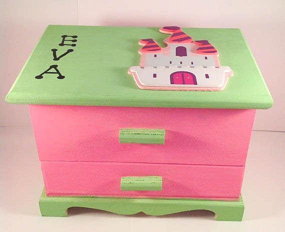 Girls jewelry box customized princess castle customized jewellery box personalized jewelry box girls jewelry box girls customized accessory