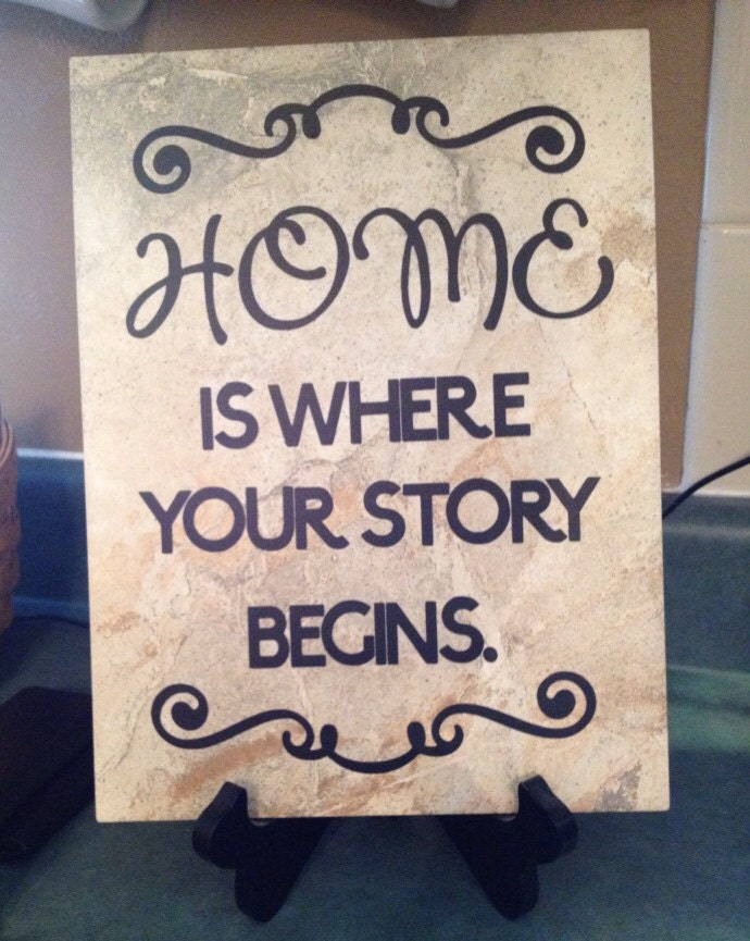 Ceramic Tiles With Sayings : Customized vinyl quotes on ceramic tile