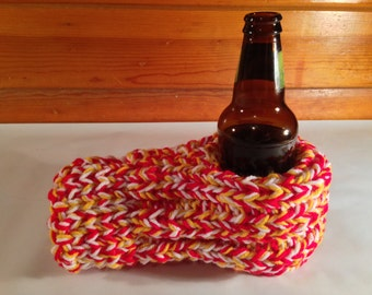 Red, Yellow, and White Drink Mitten