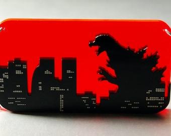 Godzilla World Tour Necklace Laser Cut Acrylic