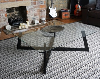 Contemporary Glass Coffee Table - Large Square