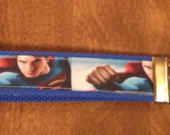 Superman wristlet key fob holder keychain