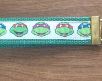 Teenage Mutant Ninja Turtles wristlet key fob holder keychain