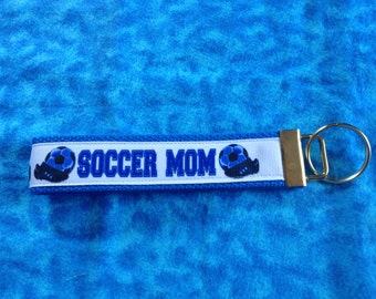 Soccer Mom wristlet key fob holder keychain
