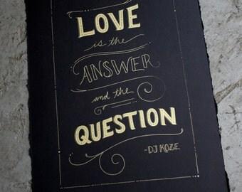 Love Silkscreen Print