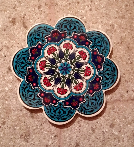 Hand Made Ceramic Trivet Hot Plate Ceramic Tile By