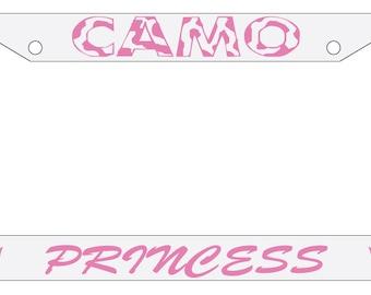 License Plate Frame Camo Princess Auto Accessory Novelty