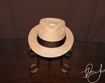 Panama Hat Japon Kingo Brown Fedora - Don Juan Hats are one of a kind panama hats hand-woven from straw.