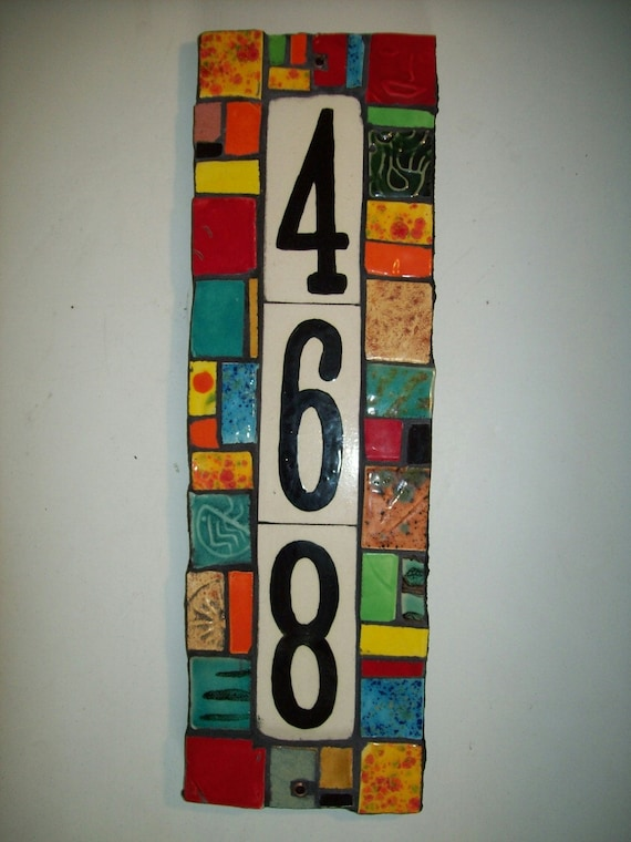 Items similar to Handmade Ceramic House Number Address
