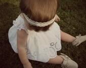 boho beaded lace headband