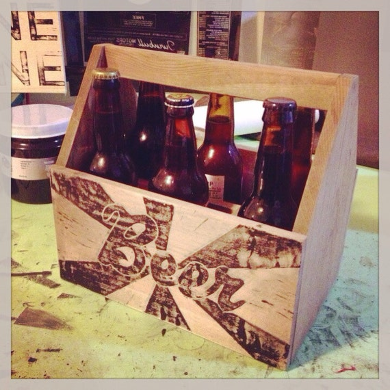 Six pack beer box with a ...